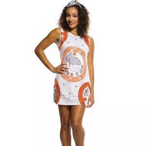BB8 Star Wars Tank Dress Orange